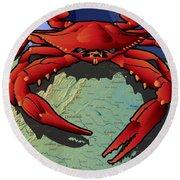 Citizen Crab Of Virginia Round Beach Towel
