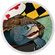Citizen Terrapin Maryland's Turtle Round Beach Towel