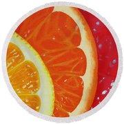 Citrus Hue Round Beach Towel