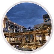 Round Beach Towel featuring the photograph City Creek by Ely Arsha
