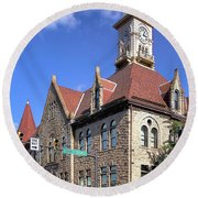 City Hall - Johnstown Pa Round Beach Towel