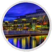 City Lights @bristol Round Beach Towel