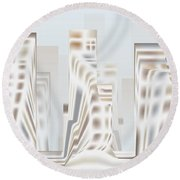 City Mesa 2 Round Beach Towel