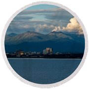 City Of Anchorage  Round Beach Towel
