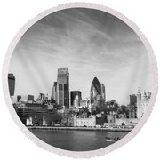 City Of London  Round Beach Towel by Pixel Chimp