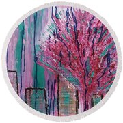 City Pear Tree Round Beach Towel