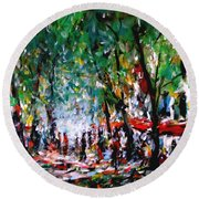 City Promenade Round Beach Towel