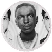 Civil Rights Workers Murdered Round Beach Towel