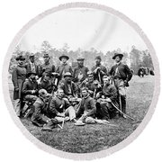 Civil War Officers, 1862 Round Beach Towel