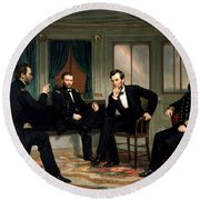 Civil War Union Leaders -- The Peacemakers Round Beach Towel