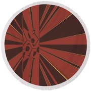 Civilities Round Beach Towel