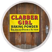 Clabber Girl Round Beach Towel