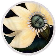 Claire De Bloom Round Beach Towel