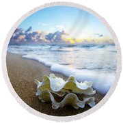 Clam Foam Round Beach Towel