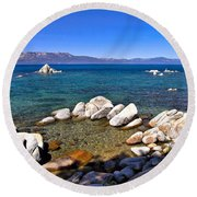 Clarity - Lake Tahoe Round Beach Towel