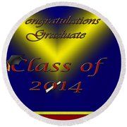 Class Of 2014 Card Round Beach Towel