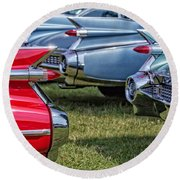 Classic Caddy Fin Party Round Beach Towel