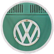 Classic Car 8 Round Beach Towel