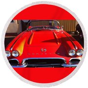 Classic Corvette Round Beach Towel