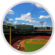 Classic Fenway I  Fenway Park Round Beach Towel by Iconic Images Art Gallery David Pucciarelli