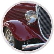 Classic Ford Car Round Beach Towel