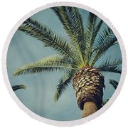 Round Beach Towel featuring the photograph Classic Palms2 by Meghan at FireBonnet Art