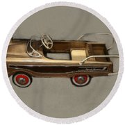 Classic Ranch Wagon Pedal Car Round Beach Towel