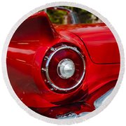 Round Beach Towel featuring the photograph 1957 Ford Thunderbird Classic Car  by Jerry Cowart