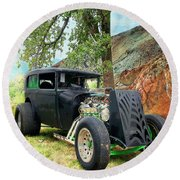 Round Beach Towel featuring the photograph Classic Rod by Liane Wright