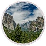 Classic Tunnel View Round Beach Towel