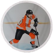 Claude Giroux Philadelphia Flyer Round Beach Towel