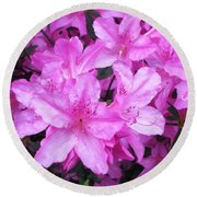 Round Beach Towel featuring the photograph Azaleas by Donna Dixon