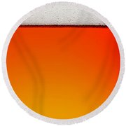 Clean Beer Background Round Beach Towel