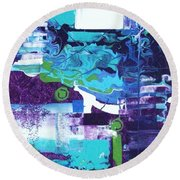 Clear Cool Water Round Beach Towel