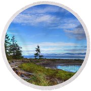 Clearing Skies Round Beach Towel