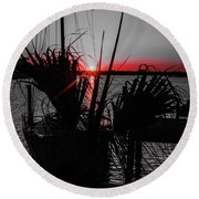 Clearwater Sunrise Round Beach Towel