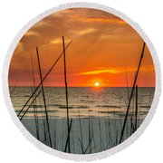 Clearwater Sunset 2 Round Beach Towel by Mike Ste Marie