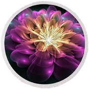 Clematis Magica Round Beach Towel