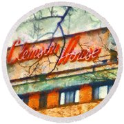 Clemson House Round Beach Towel by Lynne Jenkins