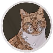Cleo Round Beach Towel
