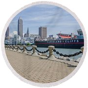 Cleveland Lake Front Round Beach Towel