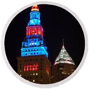 Cleveland Towers Round Beach Towel