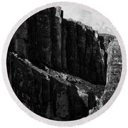 Cliffs In Contrast Round Beach Towel