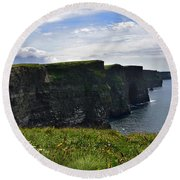 Cliffs Of Moher Looking South Round Beach Towel