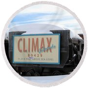 Round Beach Towel featuring the photograph Climax Colorado by Fiona Kennard