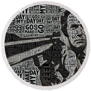 Clint Eastwood Dirty Harry Round Beach Towel