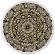 Round Beach Towel featuring the photograph Clockwork Kaleidoscope by Deborah Smith
