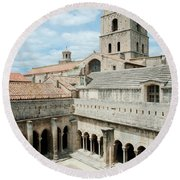 Cloister Of St. Trophime, Church Of St Round Beach Towel