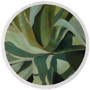 Close Cactus Round Beach Towel