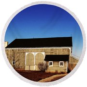 Round Beach Towel featuring the photograph Closed For The Day by Tina M Wenger